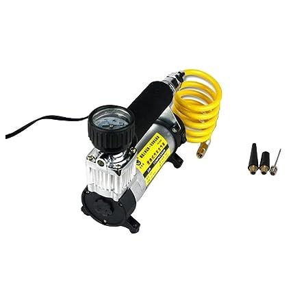Homyl Bomba de Inflador de Neumáticos Mini Compresores de Aire Portátiles Herramienta Duradero Amarillo
