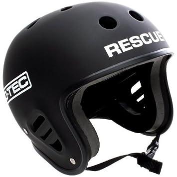 Pro-Tec FullCut Rescue Casco para Deportes Acuáticos, Unisex adulto, Negro Mate,