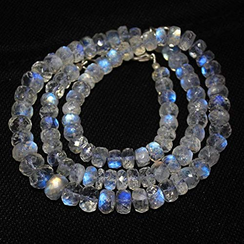 Beautiful 5x8mm Multi-colored AB Crystal Gems Rondelle Beads Necklace 45/'/' AAA