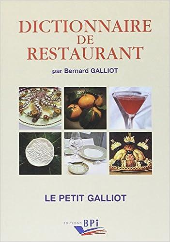 Lire un Dictionnaire de restaurant édit. 2011 epub, pdf