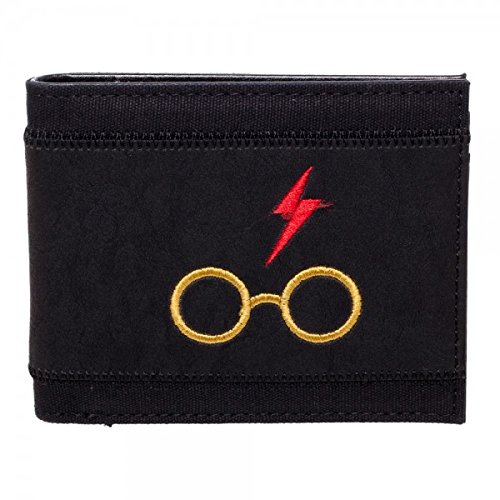Officially Licensed Men's Harry Potter Harry's Glasses Bi-Fold Wallet Bioworld