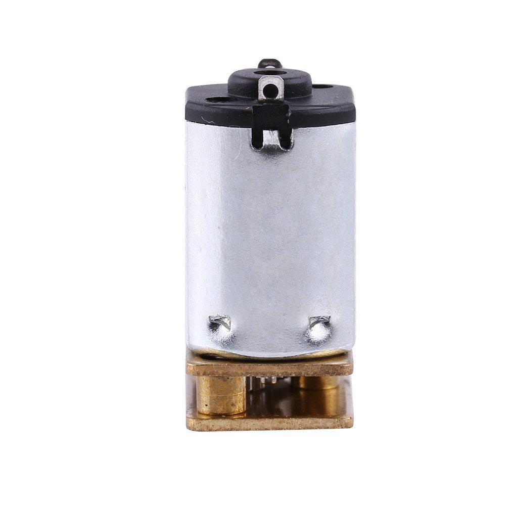 moteur avec bo/îte de vitesses en m/étal bo/îte /à engrenages de r/éduction de vitesse 1pc m/étal DC 6V 100RPM Micro motor/éducteur /électrique pour serrures dh/ôtel serrures intelligentes,