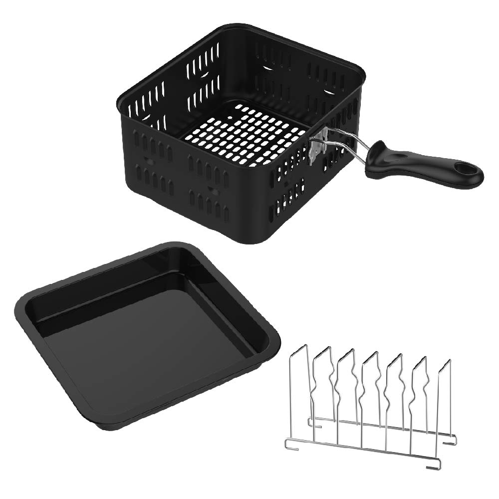 3-Piece Accessory Kit for GoWISE USA and Power Air Fryer Oven Including 6-Quart Basket, Baking Pan, and Toasting Rack
