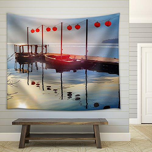 Sun Moon Lake in Taiwan Fabric Wall Tapestry