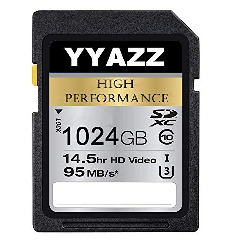 1024GB SD Card High Speed Class 10 Flash Memory Cards for Action Cameras (1024GB)