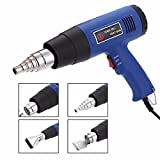 ERTIANANG 1pc EU Plug Adjustable Temperature Hot Air Gun 1500W 220V Industrial Electric Heat Gun Hot Air Blower Mayitr Power Tools