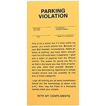 Fake Parking Tickets - Pad of 25 by BWacky