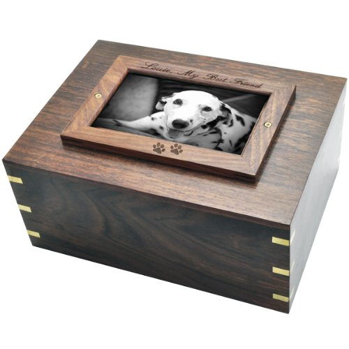 Memorial Gallery Custom Wood Personalized Box Photo Frame Pet Urn from Memorial Gallery