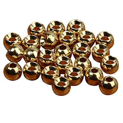 25pcs Tungsten Slotted Fly Tying Head Beads Nymph Head Ball