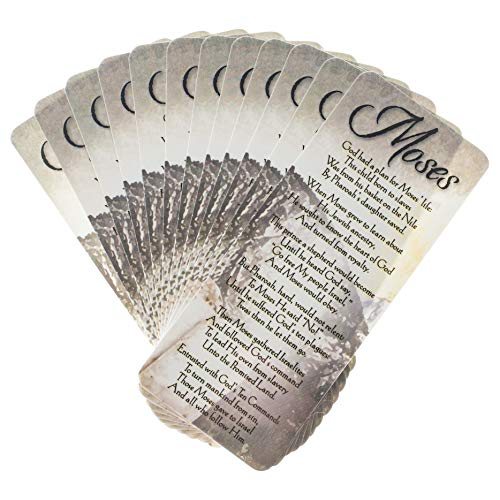 Biblical Details of Moses Cardstock Bookmark Pack of 12 (Grandma Moses Christmas Cards)
