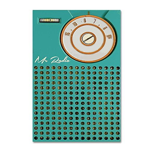 Vintage Transistor - Transistor 1 by Vintage Apple Collection, 12x19-Inch Canvas Wall Art