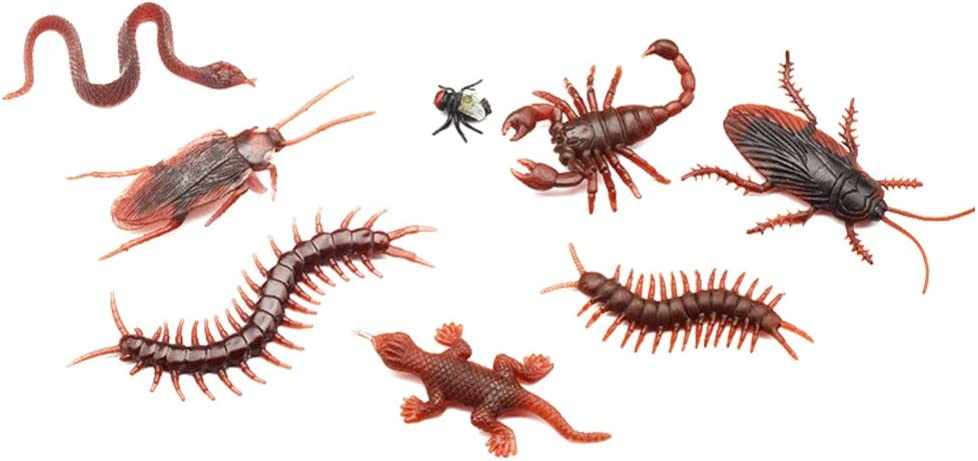 Halloween Prank Plastic Realistic Bugs Artificial Animal for Halloween Party Favors and Decoration 80pcs