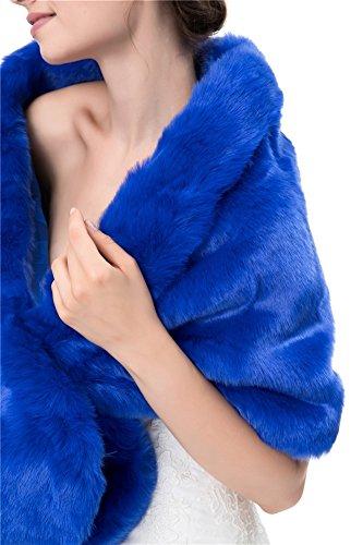 Chale Faux Insun Soir de Fourrure Femmes 7xS04wqtZ