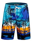 APTRO Men's Swim Trunks Beach Quick Dry Shorts Elastic Waistband Holiday Board Shorts