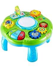 HERSITY Kinderspeelgoed Speeltafel Baby Speelgoed Tafel met Licht en Geluid Educatief Speelgoed Baby Cadeau voor Peuters