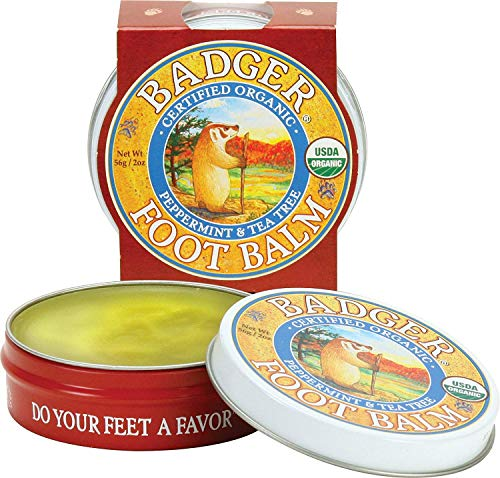 (Badger Company, Foot Balm, Peppermint & Tea Tree, .75 oz (21 g) - 2pc)
