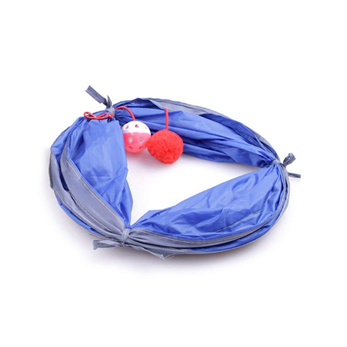 Color:Blue Kaemma Tunnel Pliable Chiens pour Chats Tunnel Jouets Int/érieur Ext/érieur Maison Polyester Tunnel De Formation Pliant Accessoires pour Animaux Fournitures pour Animaux