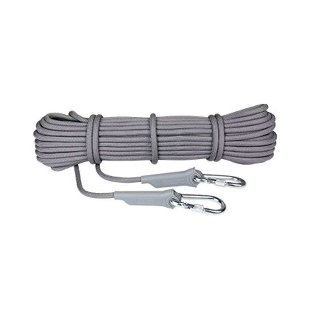 G MU Corde auxiliaire d'escalade de sécurité résistante à l'usure, Corde Statique extérieure en Nylon de 9,5 mm de différentes Tailles pour la Corde de randonnée de Survie en Auto-Sauvetage 40m