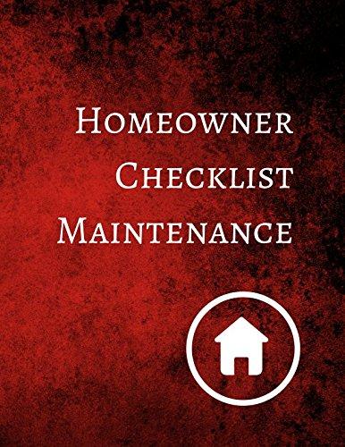 Homeowner Checklist Maintenance ebook