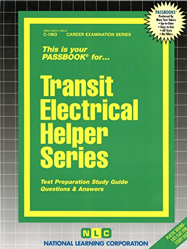 Transit Electrical Helper Series(Passbooks) (C 1963) (1963 Series)