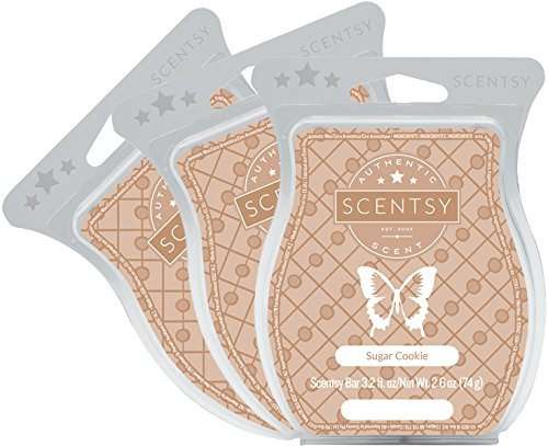 Scentsy, Sugar Cookie, Wickless Candle Tart Warmer Wax 3.2 Oz Bar, 3-pack (3)