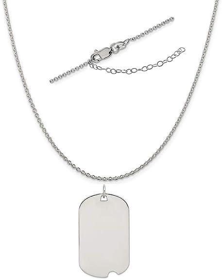 18 LavaFashion Sterling Silver Engravable Dog Tag Disc Charm Necklace