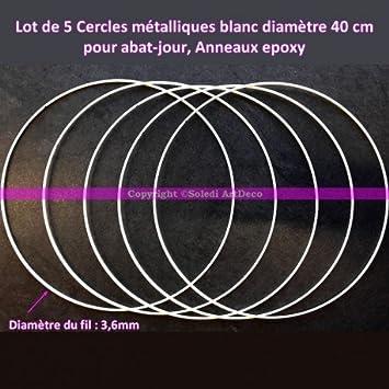 5 Stück Metallringe) weiß 40 cm Durchmesser für Lampenschirm, Ringe ...