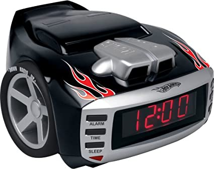 Emerson Radio Hot Wheels HW800 Snore Slammer Alarm Clock Radio (Red/Black) (Discontinued by Manufacturer)