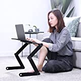 Protable Laptop Desk for Bed and Sofa,Laptop Stand,Adjustable Tabletop, Cozy Desk,Laptop Stand Table pad with 2 CPU Cooling Fans for Notebook,MacBook,IPA,Ergonomics 360 Degree Adjustable Legs