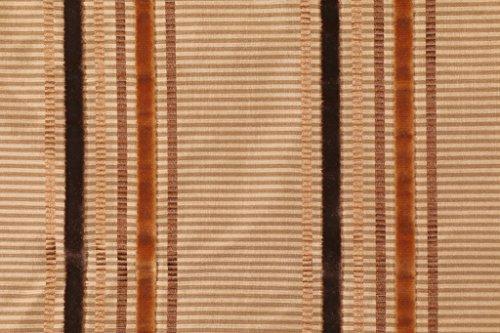 Beacon Hill/Robert Allen Donatella in Gold Silk Velvet Striped Fabric (Striped Velvet Fabric)