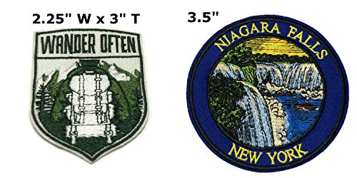 Niagara Falls Halloween Party (Wander Often and Niagara Falls National Park Series 2-Pack Embroidered Patch Iron-on Sew-on Explore Nature Outdoor Adventure Explorer Souvenir Travel Vacation Emblem)