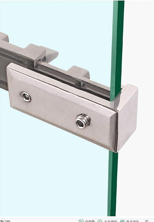 Cerradura para puerta corredera de ducha sin marco, perno/tope de puerta, apto para vidrio de 6 a 8 mm de grosor, o para divisiones de puerta, vidrio de hardware: Amazon.es: Bricolaje y