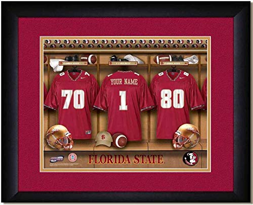 Florida State Seminoles University Football Team Locker Room Personalized Jersey Officially Licensed NCAA Sports Photo 11 x 14 Print