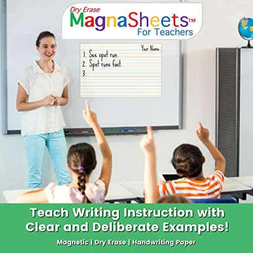 (MagnaSheets (TM) for Teachers | Dry Erase Magnetic Handwriting Paper for Classrooms)
