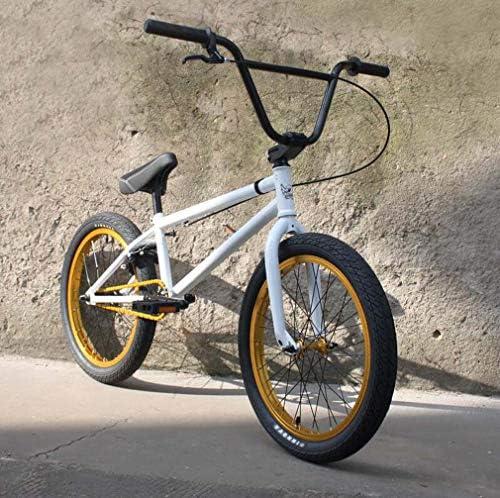 20インチBMXバイク自転車、高強度炭素鋼フレーム、Uブレーキ付き3セクション8キークランク、3D鍛造アルミニウム合金トップカバー