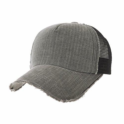 Nuevo WITHMOONS Gorras de béisbol gorra de Trucker sombrero de Baseball Cap  Vintage Meshed Distressed Cotton 57e3c88f279