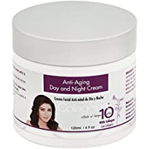 Colageina 10 Day and Night Cream, Anti-Aging - 4 fl oz (2 Pack)