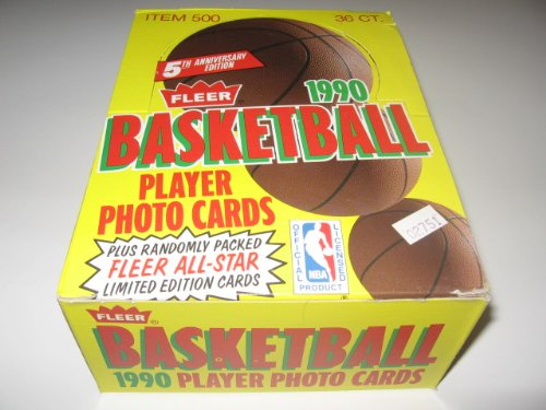 1990/91 Fleer Basketball Wax Box ()