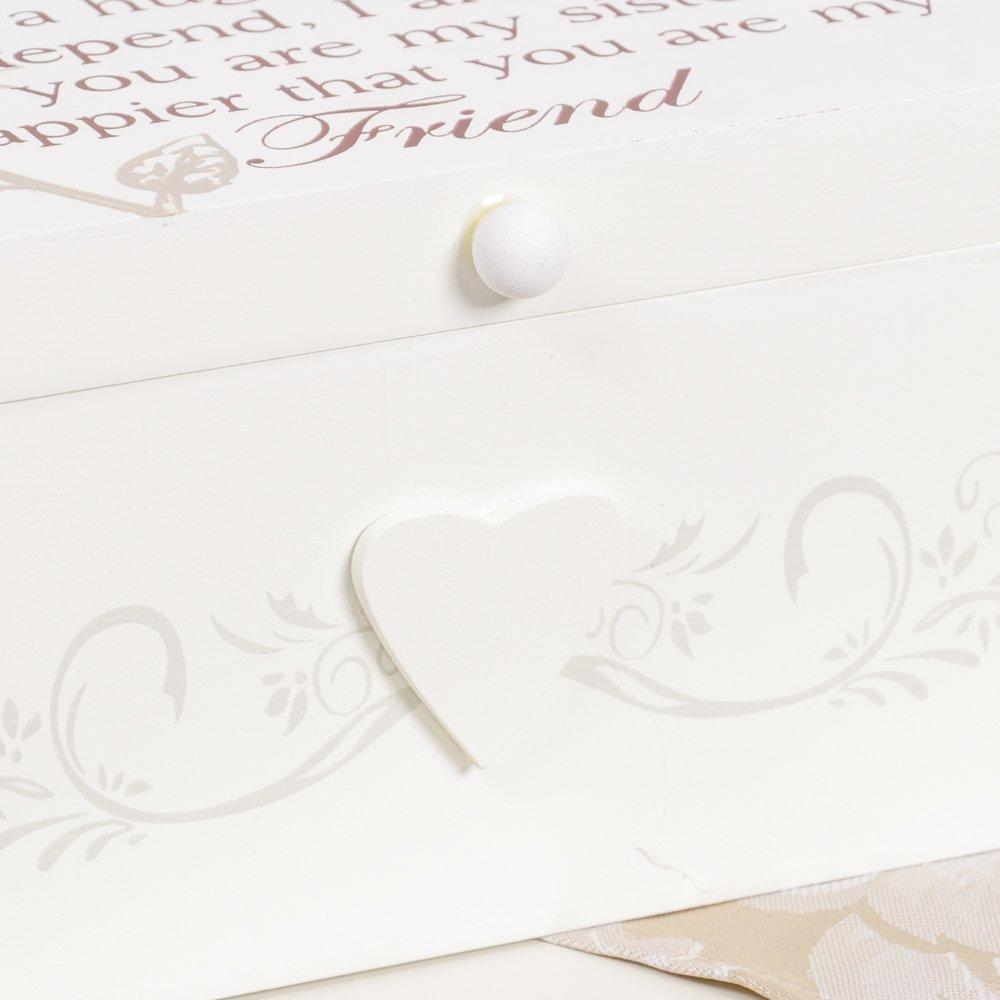 /Un Ottima Idea Regalo da Dibor/ /French Style Accessori per la casa Special Sister Trinket Legno Keepsake Memory Storage Box H10/x w19.5/x D16/CM/