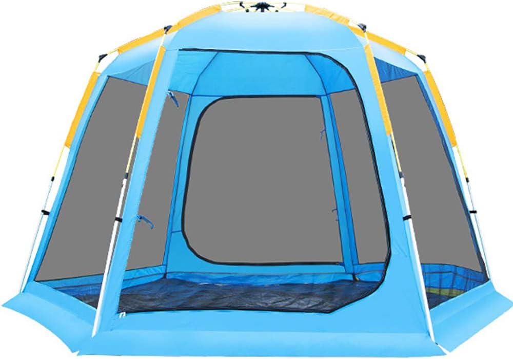 Carpa para acampar Carpas para mochileros Carpa hexagonal Cúpula a prueba de agua Pop-up automático Acampar Refugios para el sol Carpas instantáneas Fácil Configuración rápida Familia al aire libre