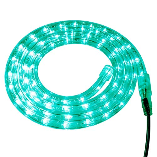 Brilliant Brand Lighting Teal LED Rope Light - 120 Volt - Custom Cut - 26.24 Feet (Teal Led)