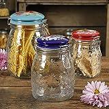The Pioneer Woman Floral Embossed Clamp Jars, Set of 3