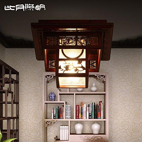 Ceiling de madera Restaurante antiguas chino Zqww lamp mwnyN0Ov8