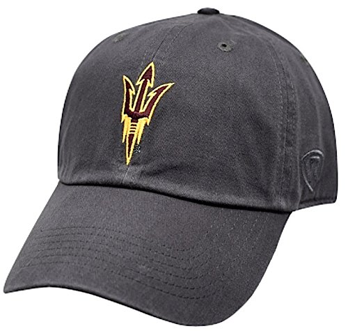 (Top of the World NCAA Arizona State Sun Devils Men's Adjustable Hat Relaxed Fit Charcoal Icon,)