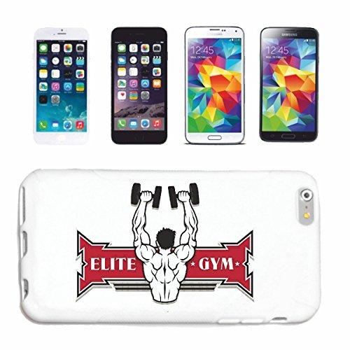 "cas de téléphone iPhone 7S ""ELITE GYM BODYBUILDING GYM Musculation GYMNASE muskelaufbau SUPPLEMENTS WEIGHTLIFTING BODYBUILDER"" Hard Case Cover Téléphone Covers Smart Cover pour Apple iPhone en blanc"