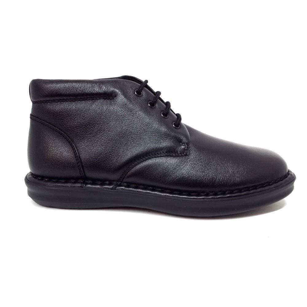 FRAU 38M2 schwarzen Mann Schuhe Mitte Stiefel bequem Schnürsenkel Leder