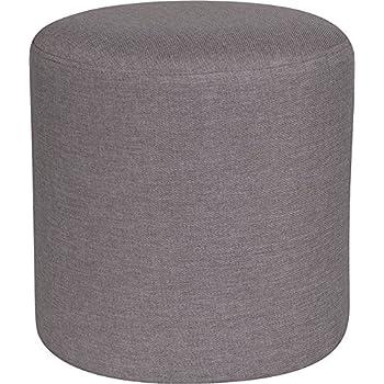 Brilliant Amazon Com Emma Oliver Taut Upholstered Round Ottoman Inzonedesignstudio Interior Chair Design Inzonedesignstudiocom