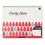 Boxclever Press 2019 Family Home Planner Calendar. Month-to-View Family Organiser with 6 Columns. Starts Now and Runs Until December 2019. Big Family Wall Planner with Grid for up to 6 People