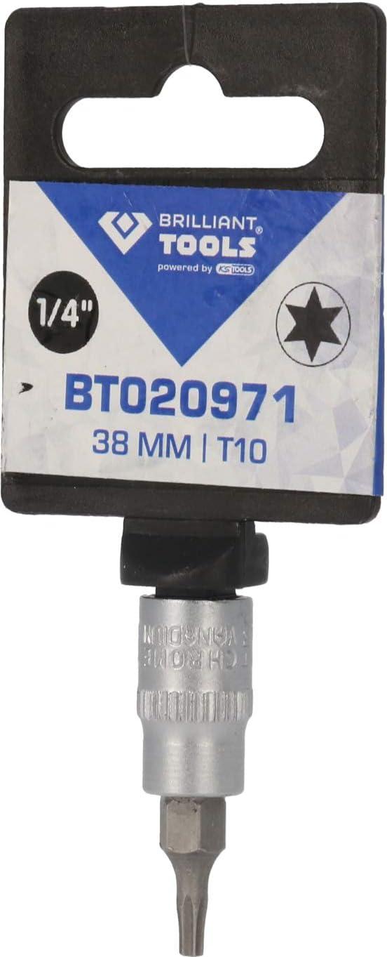 1//4, 38 mm, T30 BRILLIANT TOOLS BT020975 Destornillador Torx