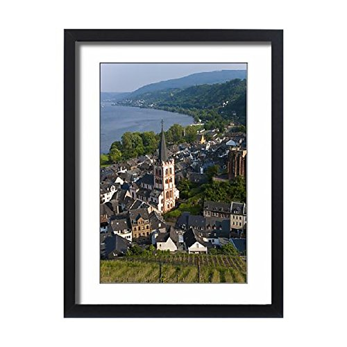 Framed 24x18 Print of View over Bacharach a River Rhine, Rhine Valley, Germany (12620841) (Rhine River Framed)